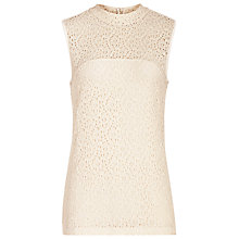 Buy Reiss Leigh High Neck Lace Top Online at johnlewis.com
