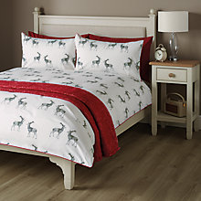 Buy John Lewis Stag Print Duvet Cover and Pillowcase Set Online at johnlewis.com