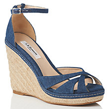 Buy L.K. Bennett Litya Wedge Heeled Sandals, Denim Online at johnlewis.com