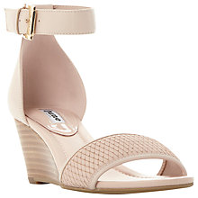 Buy Dune Karis Wedge Heeled Sandals, Nude Online at johnlewis.com
