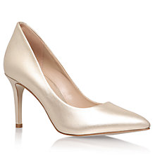 Buy KG by Kurt Geiger Bella Pointed Toe Stiletto Court Shoes, Champagne Online at johnlewis.com