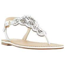 Buy Dune Lill Toe Post Sandals, White Online at johnlewis.com