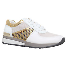 Buy MICHAEL Michael Kors Allie Flat Trainer Online at johnlewis.com