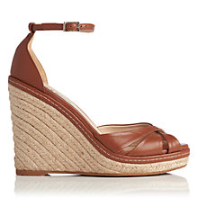Buy L.K. Bennett Litya Wedge Heeled Sandals, Tan Online at johnlewis.com