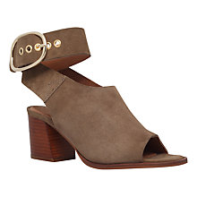 Buy KG by Kurt Geiger Nata Block Heeled Sandals, Khaki Online at johnlewis.com