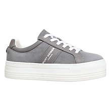Buy Kurt Geiger Ladbrook Flatform Trainers, Grey Online at johnlewis.com