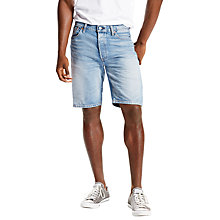 Buy Levi's 501 Paddington Denim Shorts, Light Blue Online at johnlewis.com
