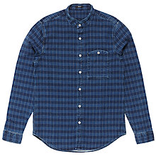 Buy Denham Gingham Check Shirt, Indigo Online at johnlewis.com