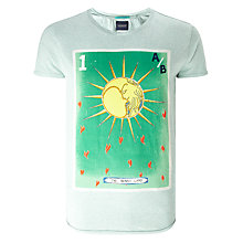Buy Scotch & Soda Blauw Poster Print T-Shirt, Mint Mele Online at johnlewis.com