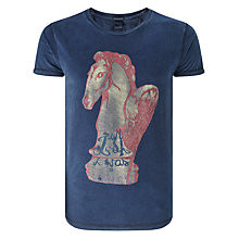 Buy Scotch & Soda Washed Rocker T-Shirt Online at johnlewis.com