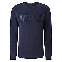 Buy Scotch & Soda Blauw Brand Sweatshirt, Midnight Online at johnlewis.com