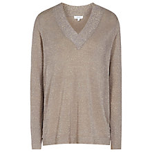 Buy Reiss Serana Lightweight Jumper, Metallic Online at johnlewis.com