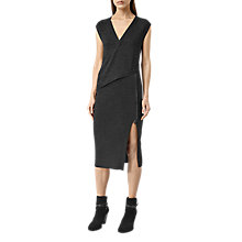 Buy AllSaints Kalo Dress, Cinder Black Marl Online at johnlewis.com