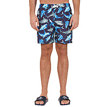 Buy Original Penguin Shark Print Swim Shorts, Navy Online at johnlewis.com