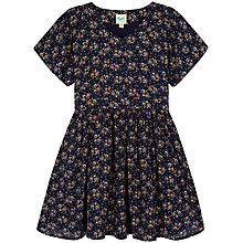 Buy Yumi Girl Batwing Sleeve Ditsy Dress, Navy Online at johnlewis.com
