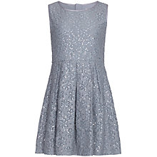 Buy Yumi Girl Sequin Lace Box Dress, Grey Online at johnlewis.com