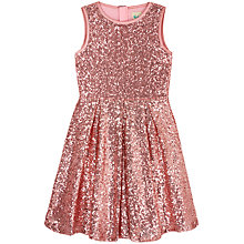 Buy Yumi Girl Sequin Skater Dress, Baby Pink Online at johnlewis.com