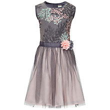 Buy Yumi Girl Embroidered Ombre Dress, Grey Online at johnlewis.com