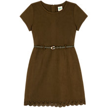 Buy Yumi Girl Suede Laser Cut Dress, Olive Online at johnlewis.com