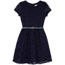 Buy Yumi Girl Lace Dress With Printed Belt Online at johnlewis.com