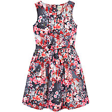 Buy Yumi Girls' Cherry Blossom Print Dress, Grey/Pink Online at johnlewis.com