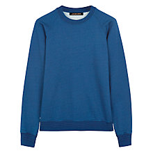 Buy Jaeger Cotton Crew Neck Sweatshirt, Indigo Online at johnlewis.com