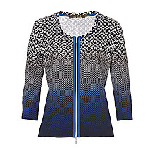 Buy Betty Barclay Abstract Cardigan, Black/Blue Online at johnlewis.com
