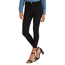 Buy Oasis High Waisted Grace Capri Jeans, Black Online at johnlewis.com
