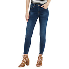 Buy Oasis Havana Skinny Zip Cropped Jeans, Light Wash Online at johnlewis.com