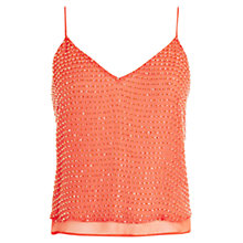 Buy Coast Geona Beaded Top, Orange Online at johnlewis.com