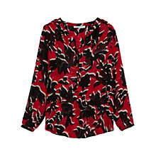 Buy Gerard Darel Caroube Blouse, Red Online at johnlewis.com