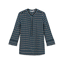Buy Gerard Darel Chic Silk Blouse, Blue Online at johnlewis.com