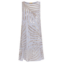 Buy Coast Embellished Palm Dress, Pale Blue Online at johnlewis.com