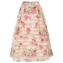 Buy Oasis Floral Organza Skirt, Pink Online at johnlewis.com