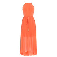 Buy Coast Mauritus Pleated Maxi Dress, Orange Online at johnlewis.com