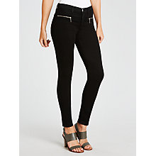 Buy J Brand Miranda Skinny Jeans, Black Online at johnlewis.com