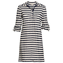 Buy Max Studio Stripe Jersey Shirt Dress, Navy/Ecru Online at johnlewis.com