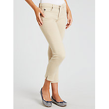 Buy AG The Stilt Cropped Skinny Jeans, Sulfur Desert Taupe Online at johnlewis.com