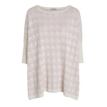 Buy Marella Currier Dogtooth Jumper, Cream Online at johnlewis.com