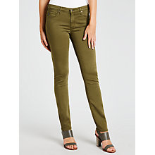 Buy AG The Sateen Prima Skinny Jeans, Sulfur Olive Night Online at johnlewis.com