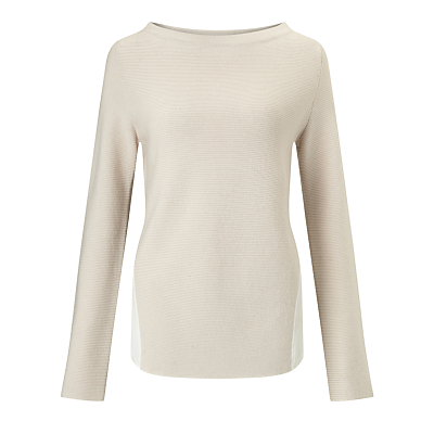 Marella Black Ribbed Jumper, Cream