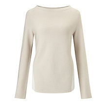 Buy Marella Black Ribbed Jumper, Cream Online at johnlewis.com