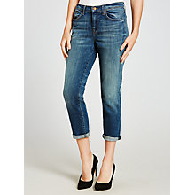 Buy J Brand Sadey Mid Rise Slim Straight Jeans, Old Rose Online at johnlewis.com
