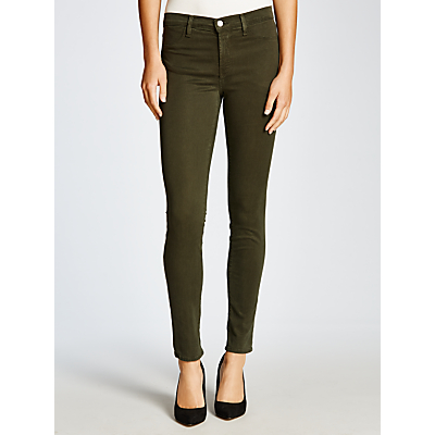J Brand 485 Luxe Sateen Mid-Rise Super Skinny Jeans, Caledon