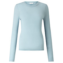Buy BOSS Fabrisia Wool Jumper, Powder Blue Online at johnlewis.com