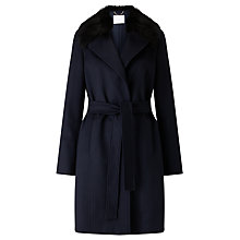 Buy BOSS Canika Wool Coat, Open Blue Online at johnlewis.com
