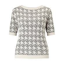 Buy Marella Favetta Dogtooth Jumper, Cream Online at johnlewis.com