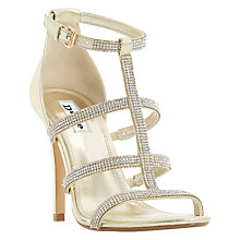 Buy Dune Mahikie Multi Strap Stiletto Sandals, Gold Online at johnlewis.com