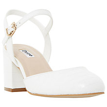 Buy Dune Cierra Block Heeled Court Shoes Online at johnlewis.com
