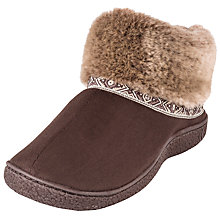 Buy Totes Woodlands Boot Slippers, Chocolate Online at johnlewis.com